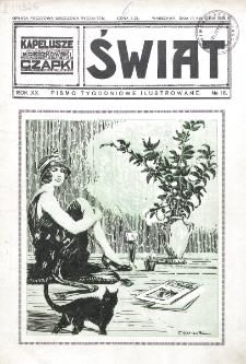 Świat : pismo tygodniowe ilustrowane poświęcone życiu społecznemu, literaturze i sztuce. R. 20 (1925), nr 16 (18 kwietnia)