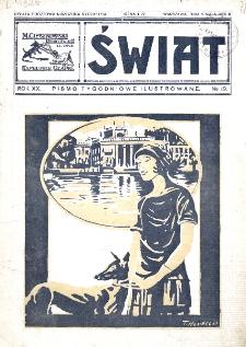 Świat : pismo tygodniowe ilustrowane poświęcone życiu społecznemu, literaturze i sztuce. R. 20 (1925), nr 19 (9 maja)