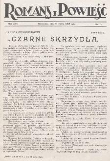 Romans i Powieść. R. 17, nr 11 (14 marca 1925)