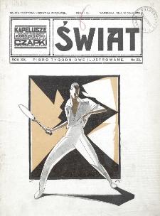 Świat : pismo tygodniowe ilustrowane poświęcone życiu społecznemu, literaturze i sztuce. R. 20 (1925), nr 22 (30 maja)