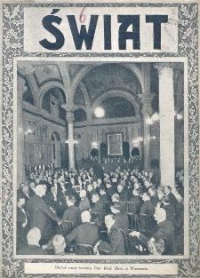 Świat : pismo tygodniowe ilustrowane poświęcone życiu społecznemu, literaturze i sztuce. R. 20 (1925), nr 23 (6 czerwca)
