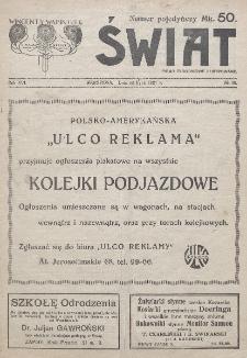 Świat : pismo tygodniowe ilustrowane poświęcone życiu społecznemu, literaturze i sztuce. R. 16 (1921), nr 30 (23 lipca)