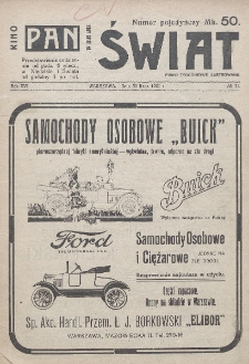 Świat : pismo tygodniowe ilustrowane poświęcone życiu społecznemu, literaturze i sztuce. R. 16, nr 31 (30 lipca 1921)