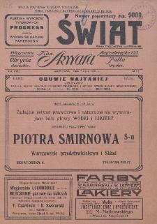 Świat : pismo tygodniowe ilustrowane poświęcone życiu społecznemu, literaturze i sztuce. R. 18 (1923), nr 27 (7 lipca)