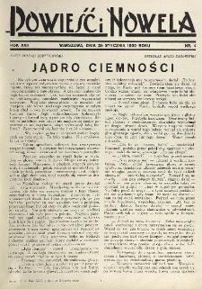 Powieść i Nowela. R. 22, nr 4 (25 stycznia 1930)