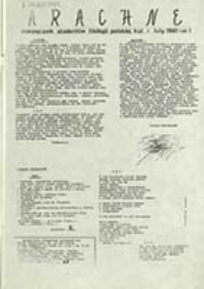 Arachne : miesięcznik studentów filologii polskiej KUL / [Koło Polonistów Studentów KUL ; red. Mieczysław Słonina et al.]