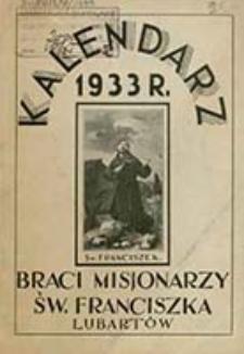 Kalendarz Braci Misjonarzy Św. Franciszka w Lubartowie na Rok Pański ....