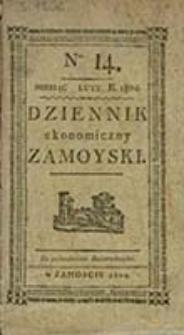 Dziennik Ekonomiczny Zamoyski / [red. i wydaw. Bazyli Kukolnik]
