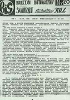 Biuletyn Informacyjny Samorządu / [Uczelniany Samorząd Studentów KUL, red. kolegium w składzie Jarosław Pawlak, Przemysław Omieczyński]