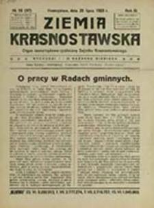 Ziemia Krasnostawska : organ samorządowo-społeczny Sejmiku Krasnostawskiego