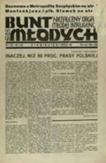 Bunt Młodych : [organ myśli mocarstwowej akademickiej młodzieży państwowej] / red. nacz. Jerzy Giedroyć