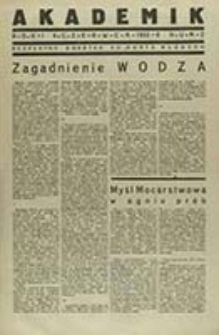"""Akademik : bezpłatny dodatek do """"Buntu Młodych"""" / red. nacz. Jerzy Giedroyć"""