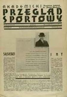Akademicki Przegląd Sportowy : organ A.Z.S. Warszawa / red. nacz. Jerzy Giedroyć