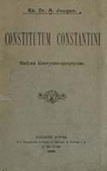 Constitutum Constantini : studyum historyczno-egzegetyczne / A. Jougan